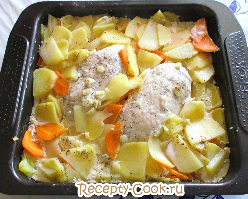 куриная грудка рецепты в духовке с картошкой и сливками