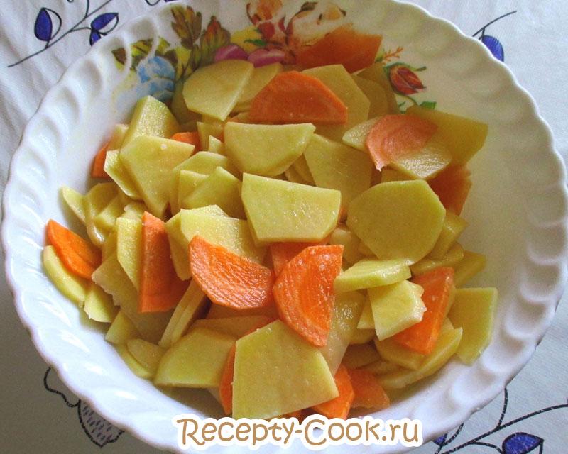 грудка с картошкой в духовке