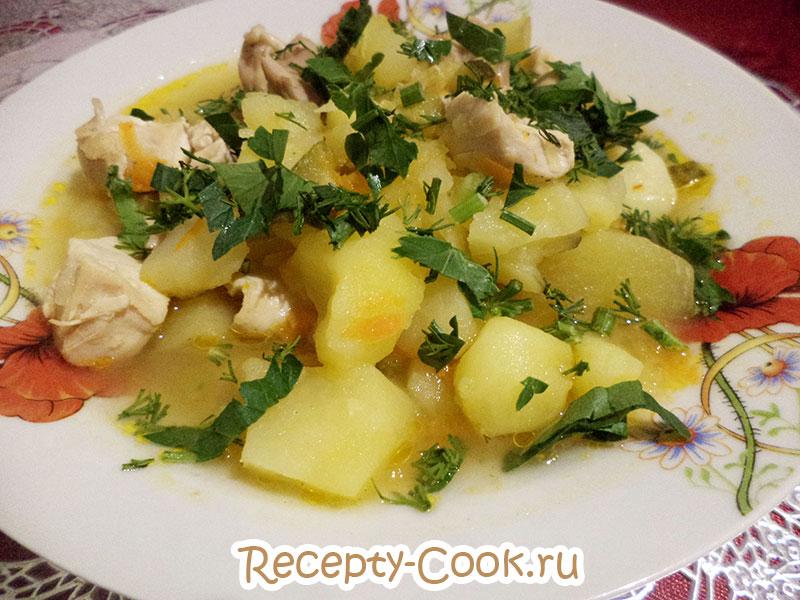 Азу по татарски из курицы рецепт 10