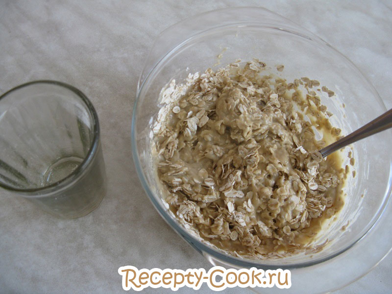 шоколадное овсяное печенье с бананом рецепт с фото