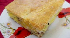 Пирог с картофелем и консервированной рыбой
