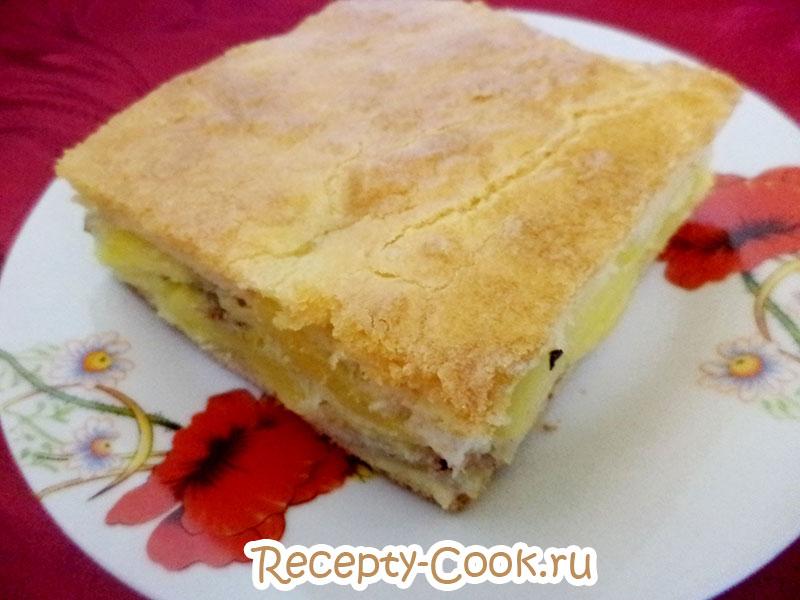 заливной рыбный пирог с картофелем