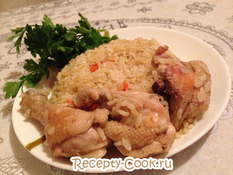 Плов из курицы и риса