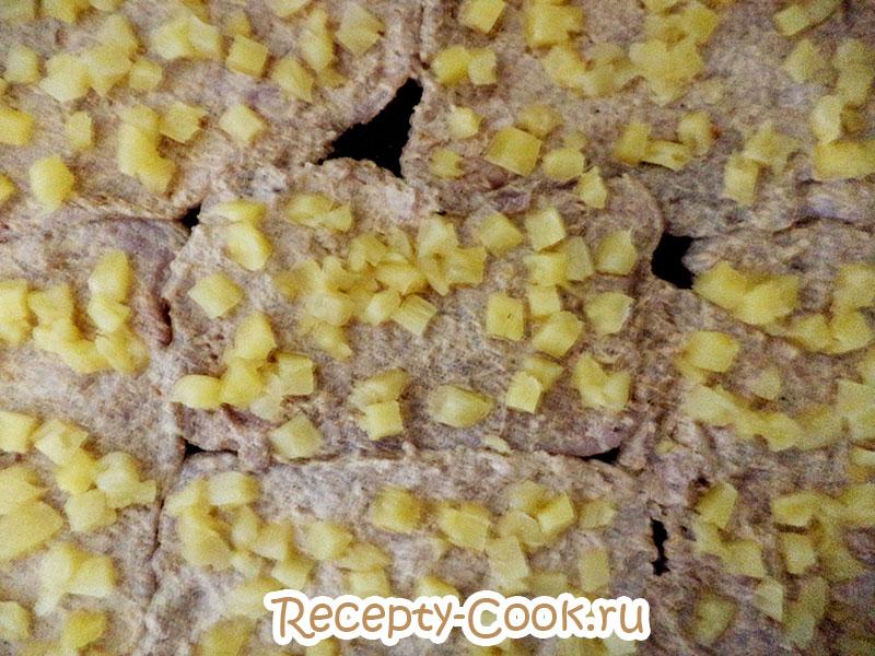 рецепт отбивных с ананасом