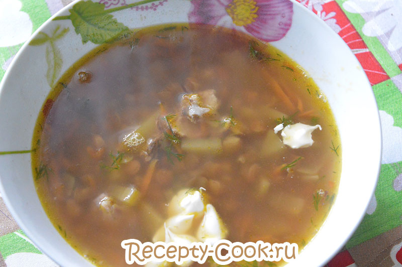 Суп из гороха и чечевицы рецепт пошагово