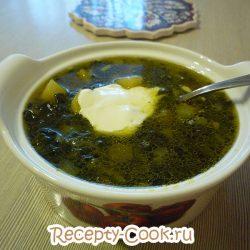 Суп со свекольной ботвой