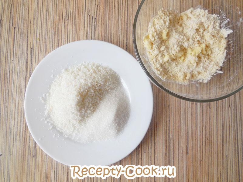 кокосовая стружка для рецепта кокосового печенья