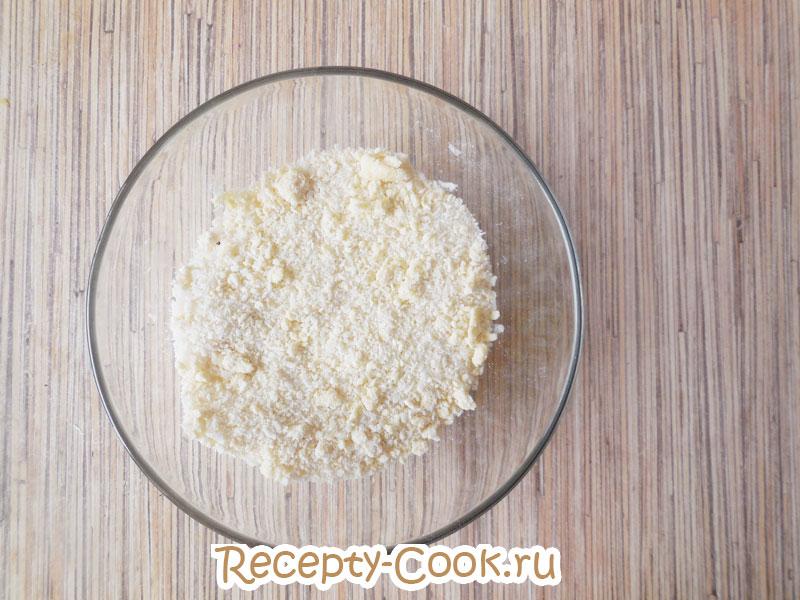рассыпчатое тесто для кокосового печенья