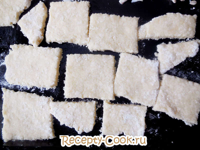 тетсо для кокосового печенья на противне