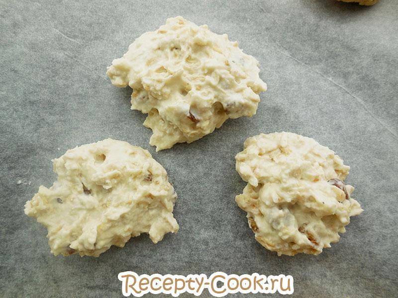 Заготовки овсяного печенья