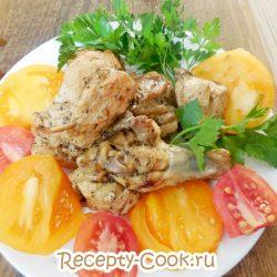 Куриный шашлык на сковороде