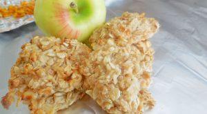 Овсяное печенье с яблоками на кефире