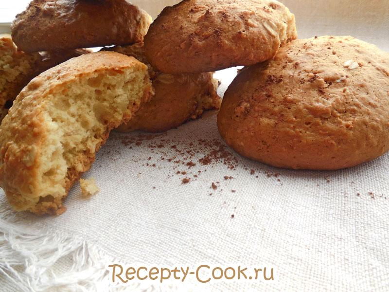 кокосовое печенье с овсянкой