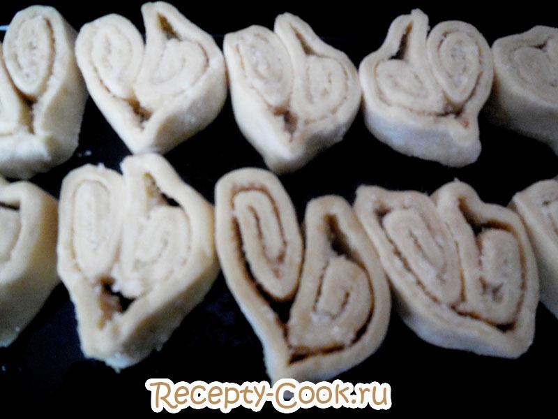 печенье ушки пошагово