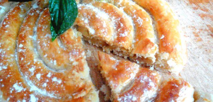 Слоеный пирог улитка