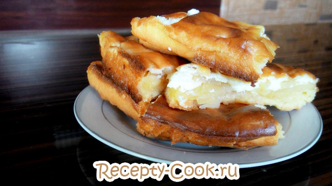 сметанно-яблочный пирог