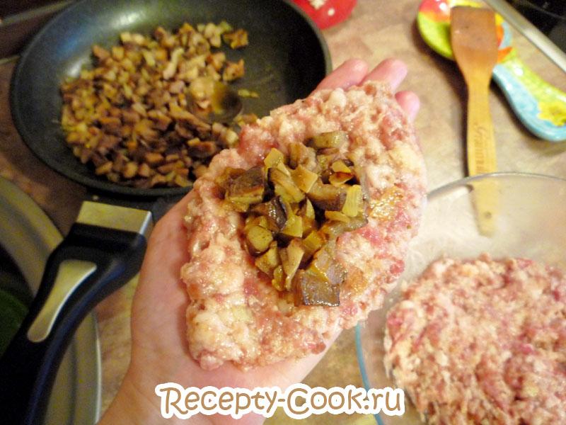 зразы мясные с грибами рецепт