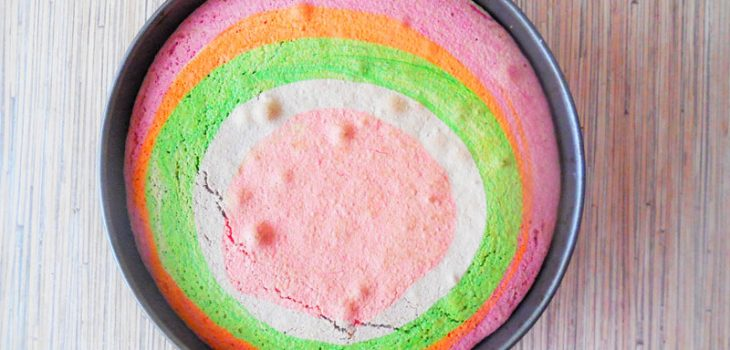 Цветной бисквит «Радуга»