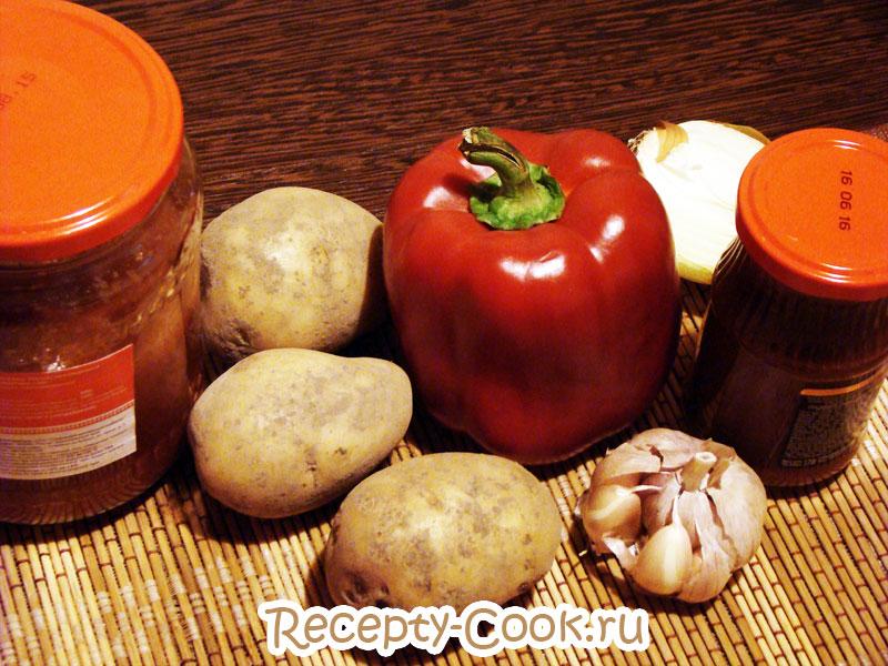 суп с перцем и помидорами