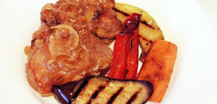 Мясо запеченное по-азиатски в соевом соусе