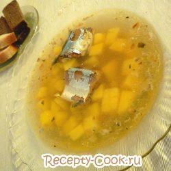 Рыбный суп с консервой