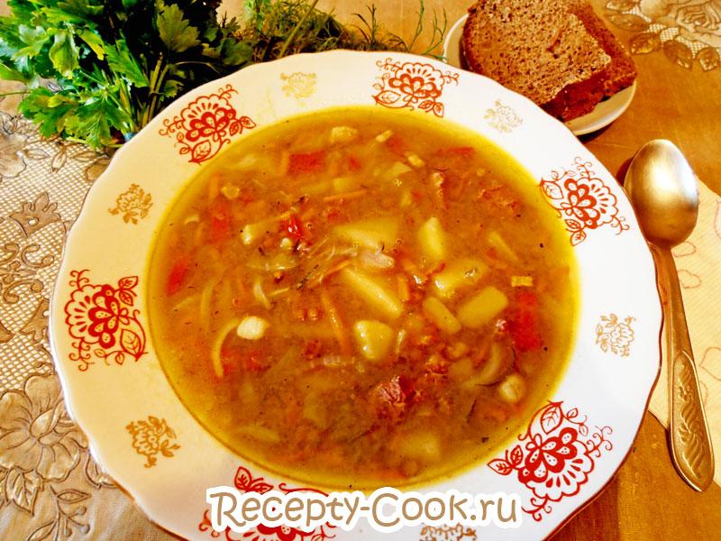 чечевичный суп пошагово
