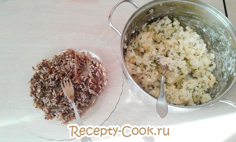 тарт с рисом и рыбой