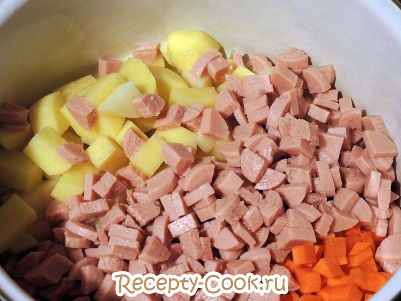 как приготовить суп с фасолью и сосисками