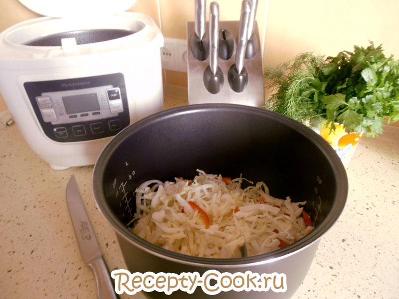 тушеная капуста с овощами рецепт