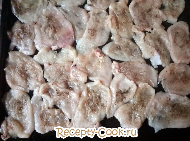 рецепт мясо по французски из курицы