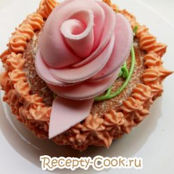 Масляный крем на сахарном сиропе для украшения выпечки