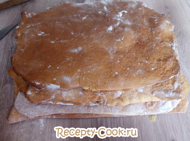 торт медовик нежный