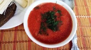 Томатный суп «Ешь и худей»