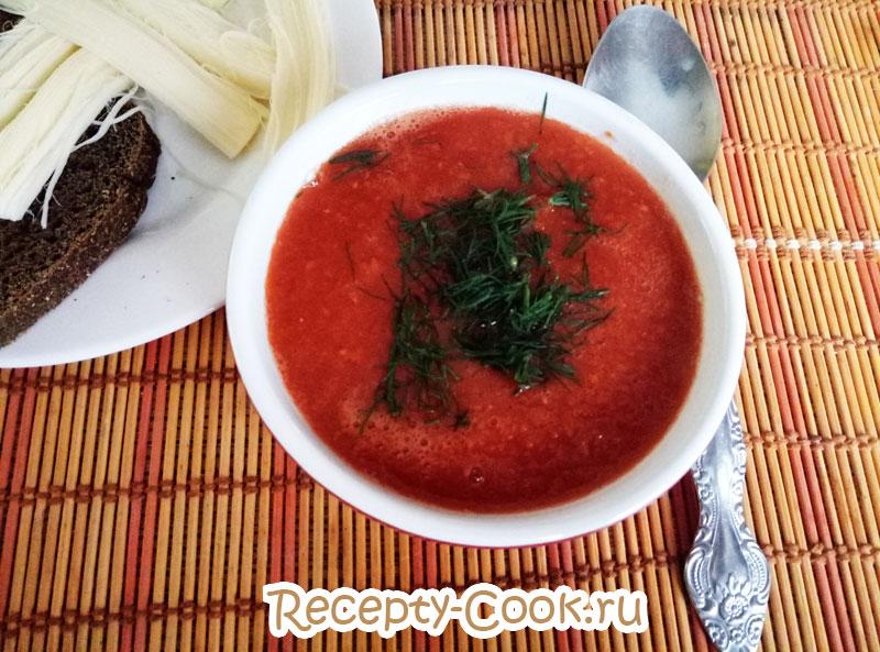 томатный суп пюре фото