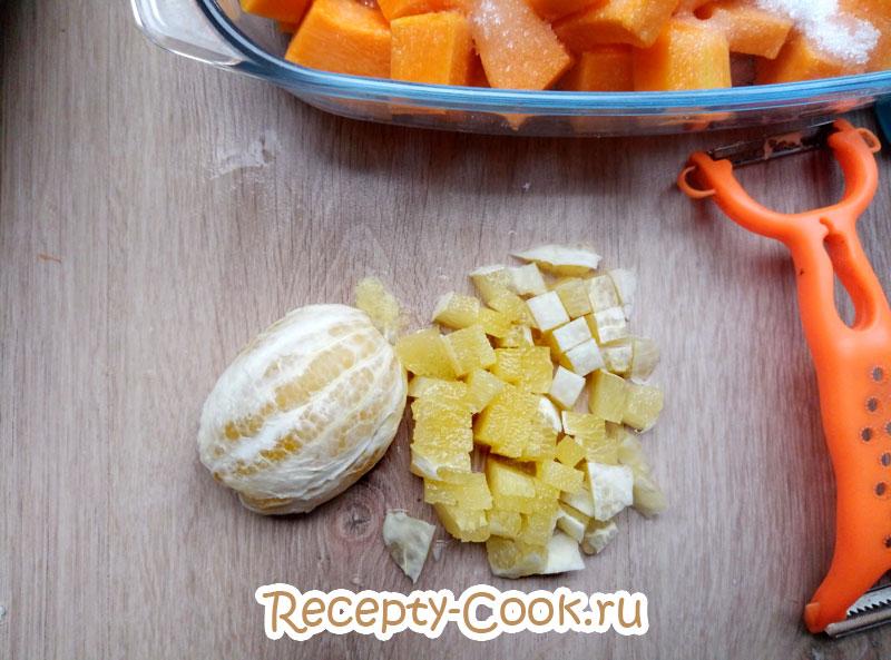 тыква с лимоном в духовке