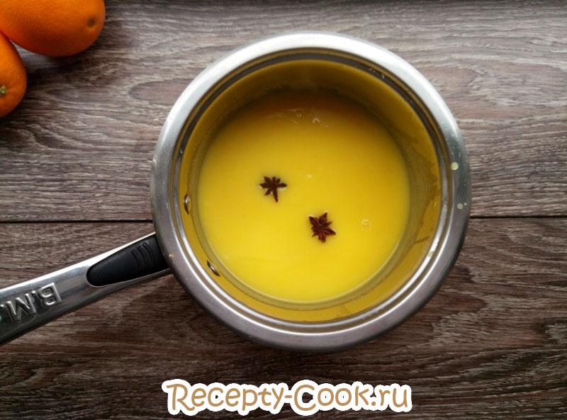 апельсиновый кисель рецепт