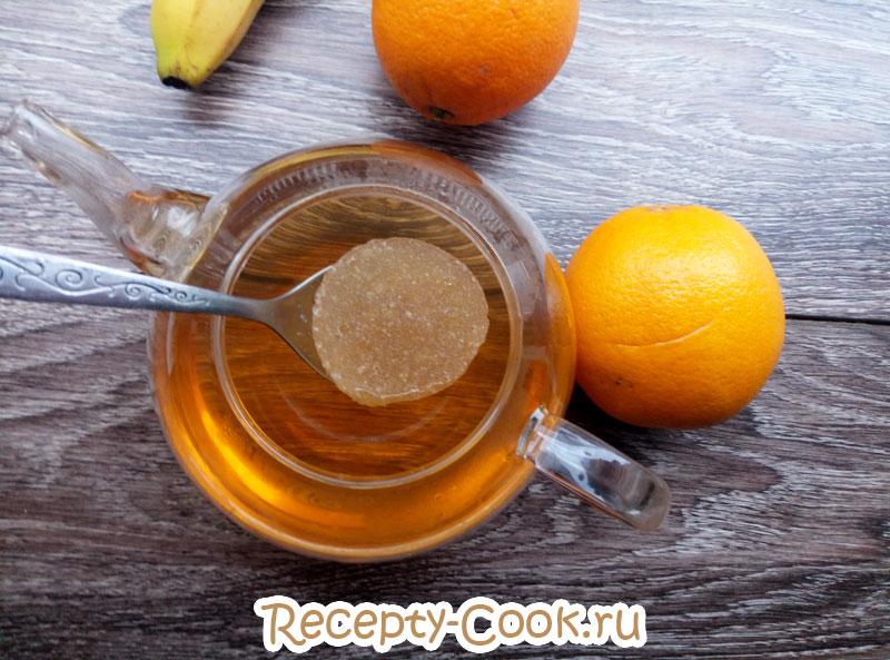 желе из чая с фруктами