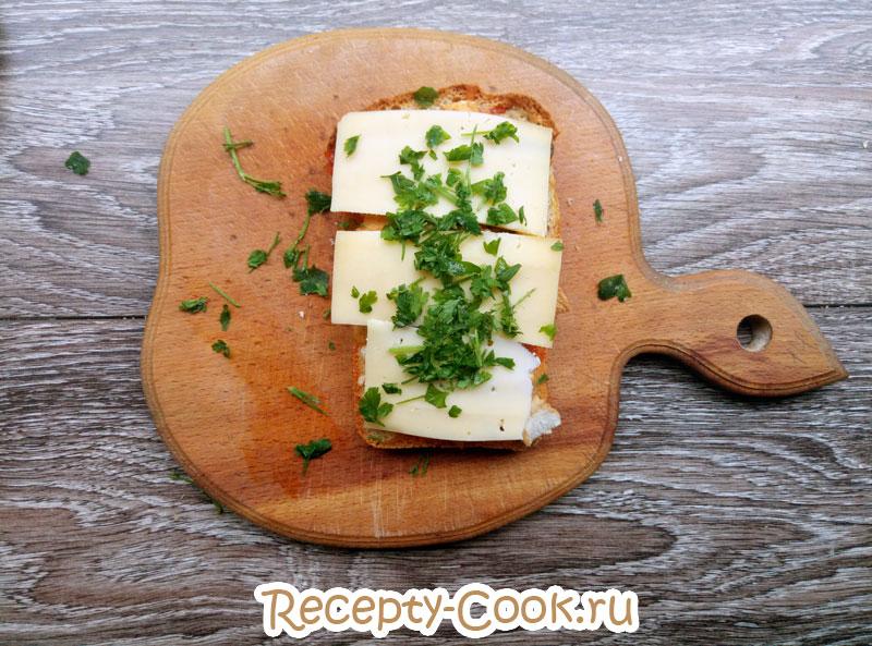сделать горячий бутерброд с сыром