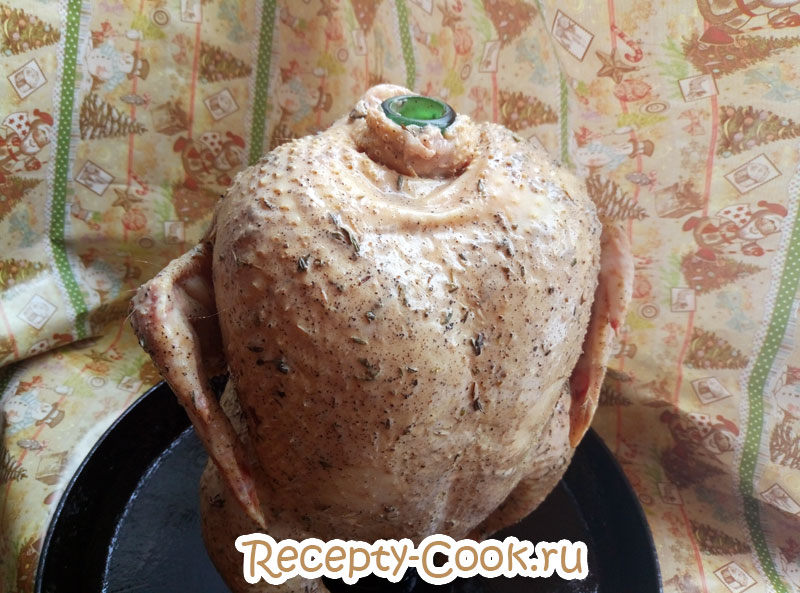 курица на бутылке с картошкой в духовке рецепт с
