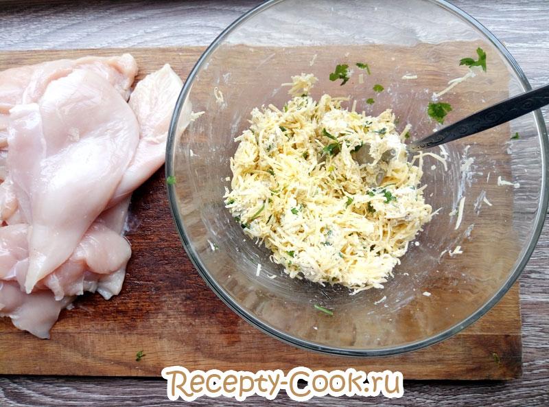 курица с сыром в духовке рецепт