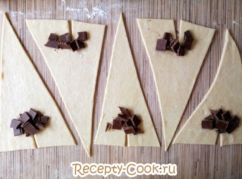 Круассаны с шоколадной начинкой
