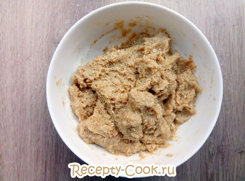простое домашнее овсяное печенье