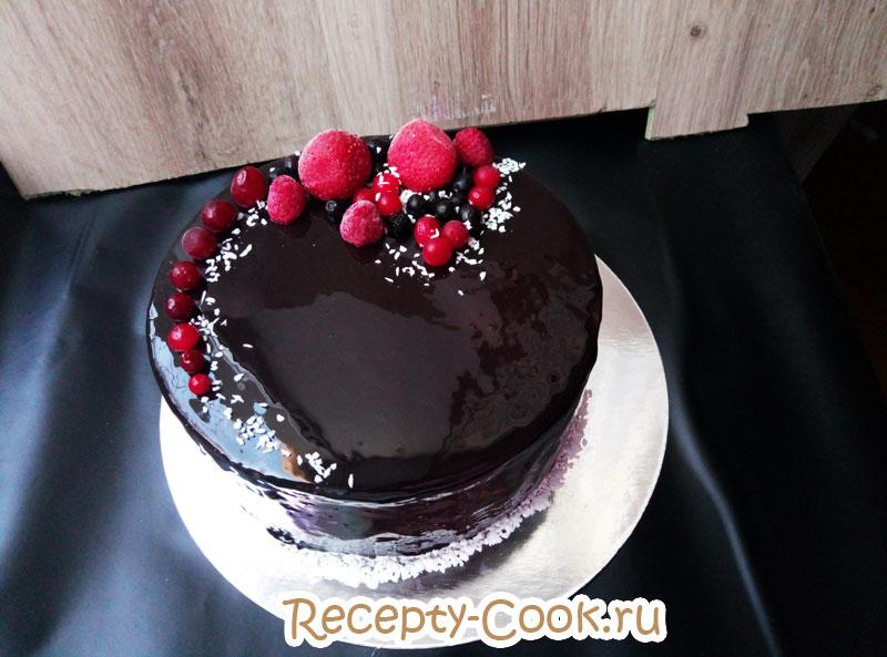 украшение шоколадного торта