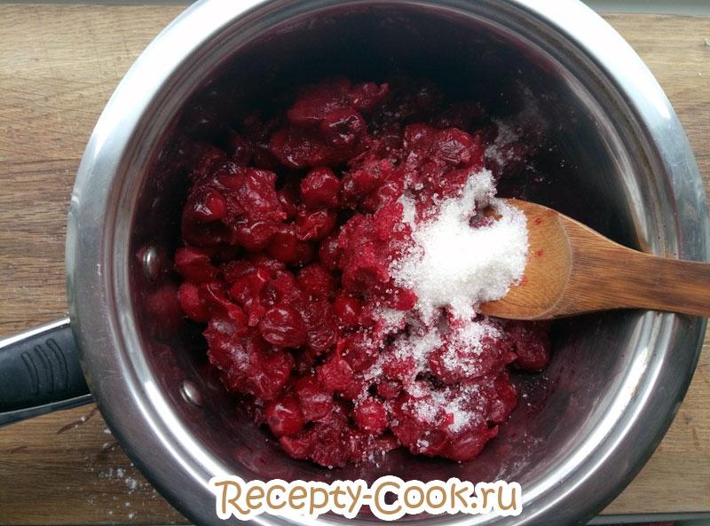 как приготовить открытый вишневый пирог