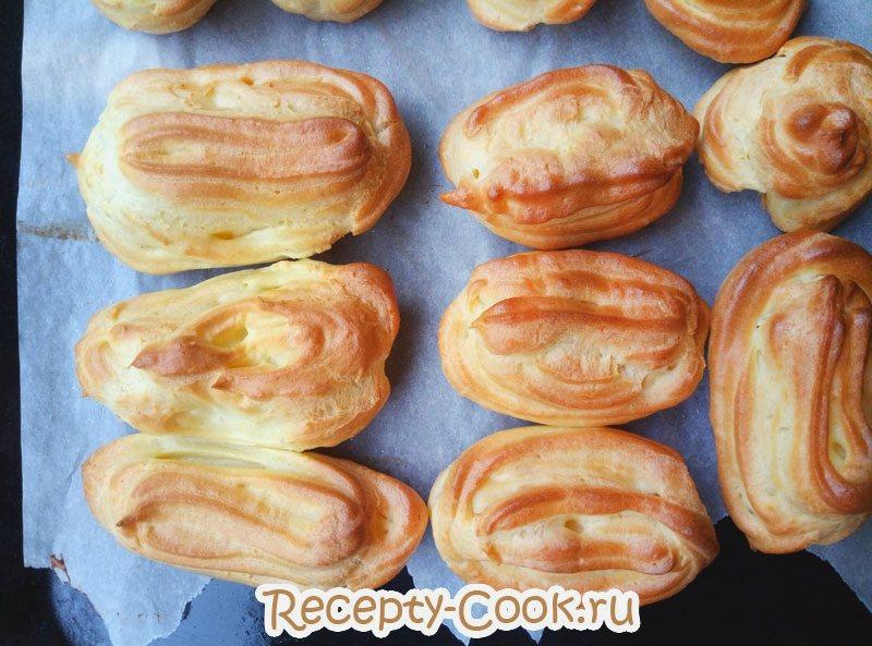 рецепт заварных пирожных с заварным кремом