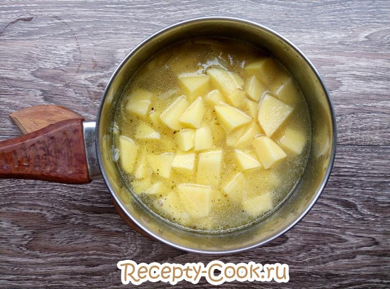 картофельный суп пюре фото