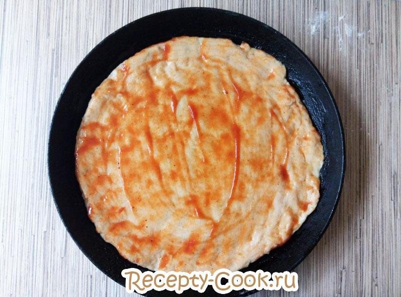 пицца с курицей и грибами рецепт