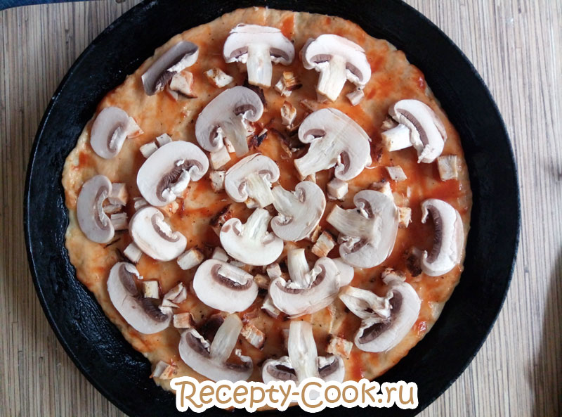 пицца курица с грибами рецепт с фото