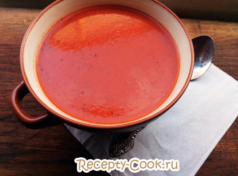 суп на основе томатного сока