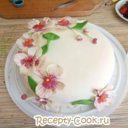 как покрыть мастикой круглый торт